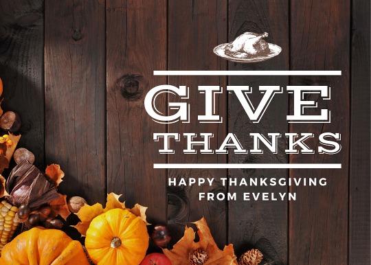 thanksgiving dinner list